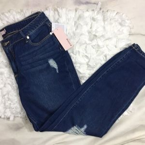 NWT Just Fab Skinny Distressed Jean